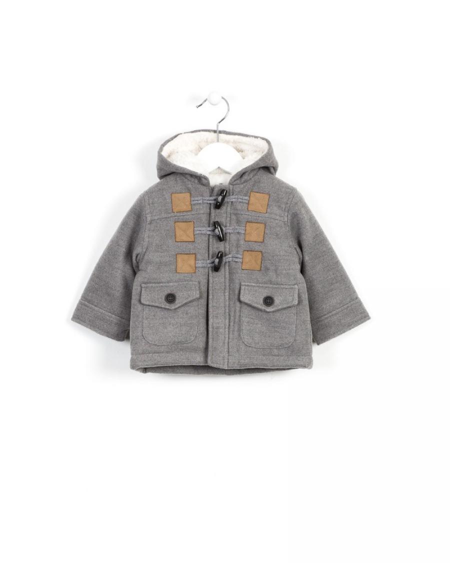 0c31d69b260 ΜΟΝΤΓΚΟΜΕΡΙ ΓΚΡΙ-ΚΟΥΚΟΥΛΑ ΜΕ ΕΠΕΝΔΥΣΗ ΓΟΥΝΙΝΗ - Χειμερινά - Μπουφάν και  Γιλέκα - για Αγόρια - Παιδικά Ρούχα KidsWear